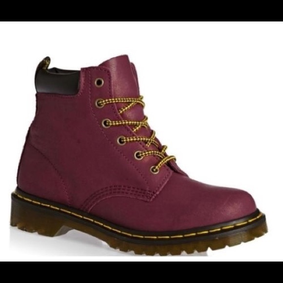 d068c1eb15 Dr. Martens 939 6-eye Deep Red Suede Boots